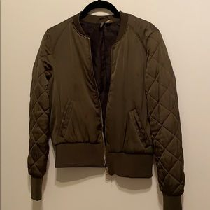 H&M divided silky fabric bomber jacket